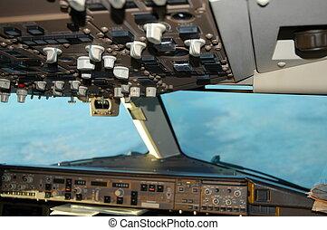 767 overhead panel - 767 cockpit overhead pannel taken in ...
