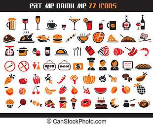 77, ícones alimento