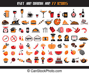 77 food icons