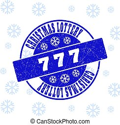 777 Scratched Round Stamp Seal for Christmas