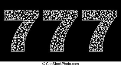 777 Text in Polygonal Mesh Style