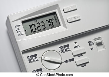 78, degrés, thermostat, frais
