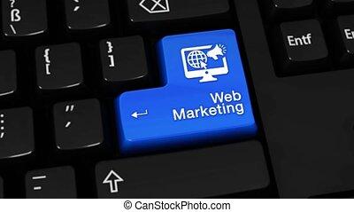 78. Web Marketing Rotation Motion On Computer Keyboard Button.