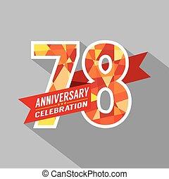 78th, jaren, jubileum, celebration.