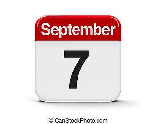 7th September - Calendar web button - The Seventh of...