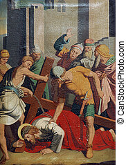 7th Stations of the Cross, Jesus falls the second time