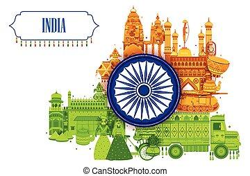 8月, 三色旗, インド, 第15, 背景, 独立