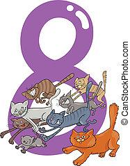 8, ネコ, 8, 数