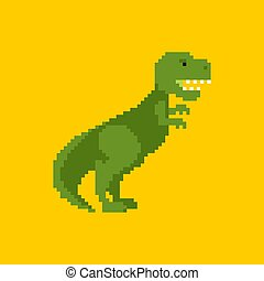 8, 恐竜, ピクセル, tyrannosaurus, pixelate., art., dino, bit., ...