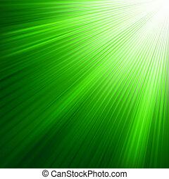 8, 發光, 綠色, eps, rays.