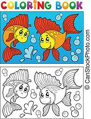 8, 着色, 動物, 本, 海洋