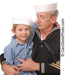 8, 船員, 息子