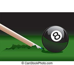 8, 2, bola, quebrada