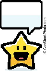 8-bit, étoile, dessin animé