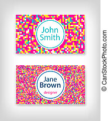 8 bit business card design
