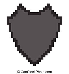 8-bit theme - Isolated 8-bit icon on a white background