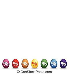 8 Colored Easter Egss Percentage