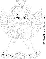 8, coloritura, pagina, angelo