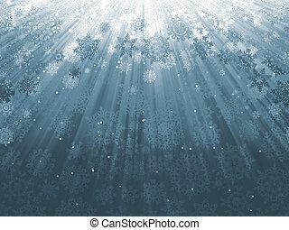 8, eps, descendente, copos de nieve, blue.
