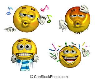 8, -, four-emoticons
