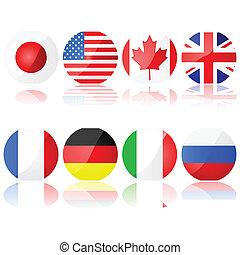 8, groep, landen