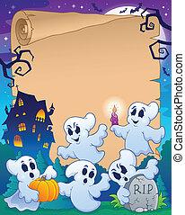 8, halloween, pergament