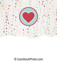 8, heart., eps, kártya, kedves