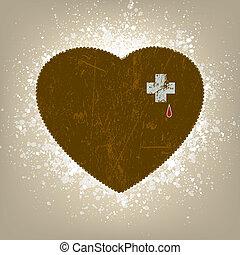 8, heart., grunge, eps, hintergrund
