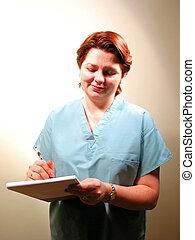 8, infirmière, docteur, monde médical, ou