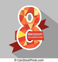 8, jaren, jubileum, celebration.