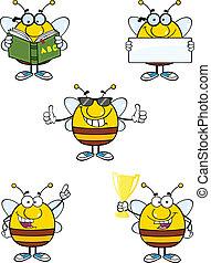 8, jogo, caráteres, cobrança, abelha