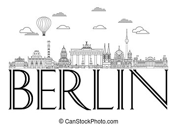 8, ligne, berlin, art, horizon