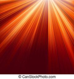8, luminoso, vermelho, rays., eps