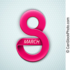 8 March - Women's Day, 8 March, eps 10