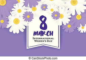 8 March International Women's Day Background - 8 March...