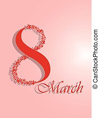 8 March Invitation Red symbol