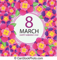 8 march poster. Happy women's day holiday