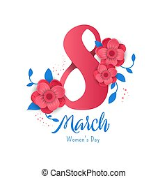 8 March. Women's Day banner.