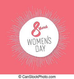 8 March, Women's Day Card