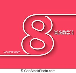 8 March Women's day greeting card design