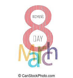 8 March, Women's Day Greeting Card Design