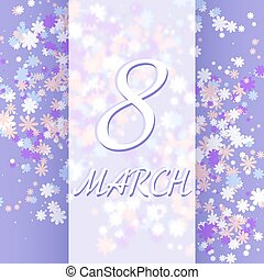 8 March women's day greeting card template.