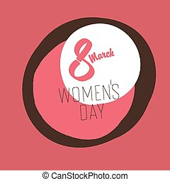 8 March, Women's Day Greeting Card