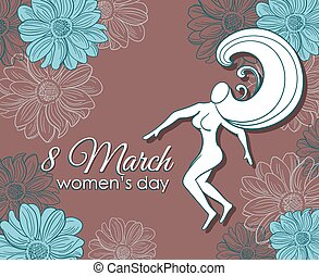 8 March Womens Day Postcard