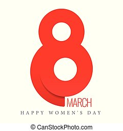 8 March. Women's day vector greeting card. Vector...