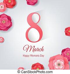 8, marzec, dzień, karta, women?s