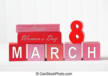 8, -, marzo, día, womans