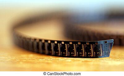 8 mm Film twist on a table