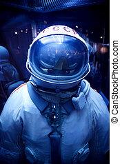 8, -, museum., ussr., mosca, 8:, spacesuit, astronautica,...