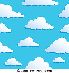 8, nuages, seamless, fond